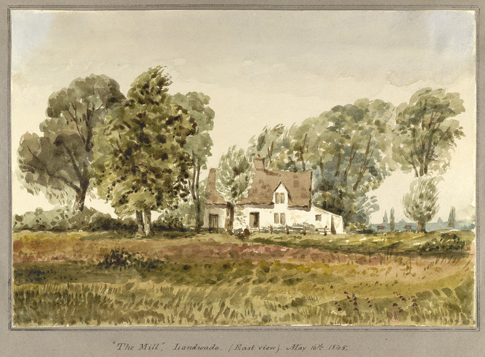 'The Mill', Landwade (East View) May 16th 1848